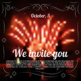 Sample template of invitation to celebration Stock Image