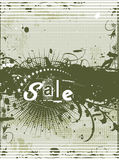 Sample text. Abstract floral grunge sample of sale banners with place for your text Royalty Free Stock Photo