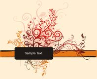Sample Text. A Sample Text vector Frame royalty free illustration