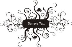 Sample Text. A Sample Text vector Frame Royalty Free Stock Photography