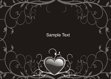Sample Text. Black background with frame for text Royalty Free Stock Photos