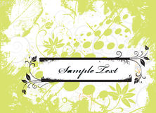 Sample text. Grunge paint flower background with sample text Royalty Free Stock Photos