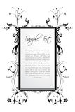 Sample text in floral frame Stock Images