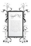 Sample text in floral frame stock illustration