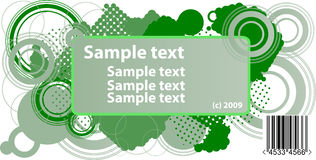 Sample text frame Royalty Free Stock Photo