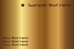 Sample Text Gold Background