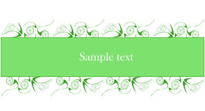 Sample text on green background Royalty Free Stock Photos
