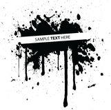 Sample text here. Abstract vector illustration made with ink Royalty Free Stock Image