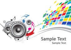 Sample text with Music theme Royalty Free Stock Photography