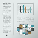 Sample text page. Info graphic. Royalty Free Stock Images
