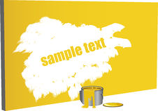 Sample text paint Royalty Free Stock Photos