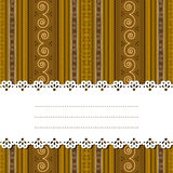 Sample text ribbon over african design. Decorative ribbon for text over a african texture, background, no mesh or transparencies Royalty Free Stock Images