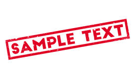 Sample Text rubber stamp Royalty Free Stock Photos