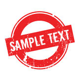 Sample Text rubber stamp Royalty Free Stock Photo