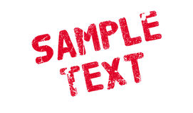 Sample Text rubber stamp Royalty Free Stock Images