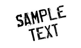 Sample Text rubber stamp Stock Photo