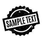 Sample Text rubber stamp Stock Photography