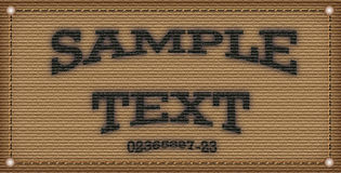 Sample text template Royalty Free Stock Image