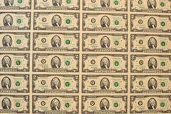Sample of US 2-dollar bills Stock Photos