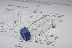 Sample vial on the paper Royalty Free Stock Image