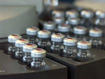 Sample vials for analysis Royalty Free Stock Image