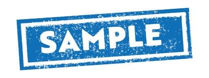 Sample vintage blue stamp tag banner vector royalty free illustration