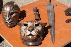 Gladiator Armor. Sample wares from a military blacksmith stock photo
