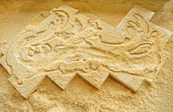 Sample of wood carving. Sample of art wood carving royalty free stock photos