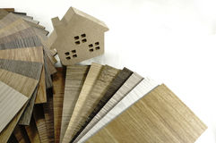Sample wood texture for decoration house. Small color sample boa royalty free stock photo