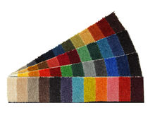 Sample yarns for carpet Royalty Free Stock Images