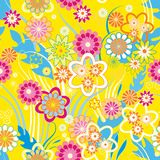 Sample_yellow_floral_vector Photo stock