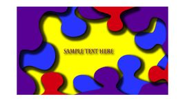 Sample your text here card with colorful background. vector illustration