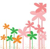 Sample your text here card with colorful flower in frame Stock Image