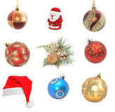 Sampler of cristmas decoration Stock Image