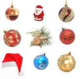 Sampler of cristmas decoration. Isolated on white Stock Image