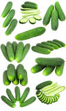 Sampler of cucumbers Royalty Free Stock Photos
