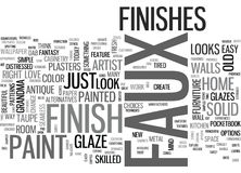 A Sampler Of Faux Finish Techniques Word Cloud. A SAMPLER OF FAUX FINISH TECHNIQUES TEXT WORD CLOUD CONCEPT Stock Photography
