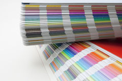 Sampler of pantone colors Stock Image