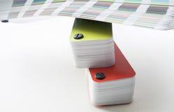 Sampler of pantone colors Royalty Free Stock Image