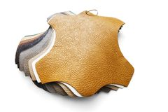 Samples of artificial leather Stock Photography