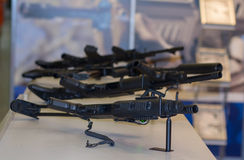 Samples automatic weapon on the counter Royalty Free Stock Photos