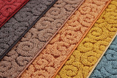 Samples of carpet Stock Image