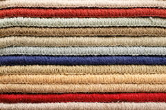 Samples of carpet. Color samples of carpet to serve as background Royalty Free Stock Photo