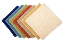 Samples of carpet. Samples of color of a carpet covering Stock Image
