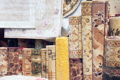 Samples of carpet coverings Stock Images
