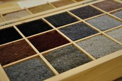 Samples of carpet royalty free stock images