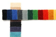 Samples of carpeting. Samples of different colors of carpeting royalty free stock images