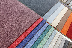 Samples of carpets Stock Photos
