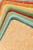 Samples of carpets Stock Photography