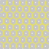 Samples with circles and dots, gray, yellow Royalty Free Stock Photo